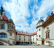 Zamek θερινή Castle Pruhonice ή Pruhonicky όψη (Πράγα, τσεχικά) Στοκ Εικόνα