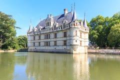 zamek azay Le Rideau Obrazy Royalty Free