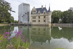 zamek azay Le Rideau Zdjęcia Royalty Free