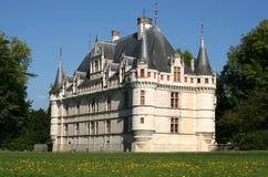 zamek azay Le Rideau France Obraz Royalty Free