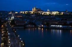 zamek Charles Prague mostu Fotografia Stock