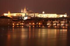 zamek Charles Prague mostu obraz royalty free