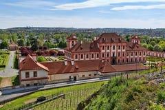 Zamek de troy de Trojsky de château, Prague Photos stock