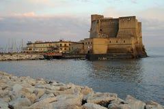 zamek dell Neapolu ovo Włoch Obrazy Royalty Free