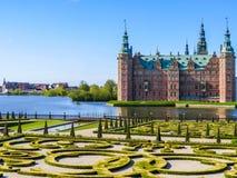 zamek Denmark Frederiksborg Hillerod Zdjęcia Royalty Free