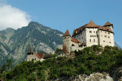 zamek Gutenberg Liechtenstein Zdjęcie Royalty Free