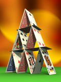 zamek karty Zdjęcia Stock