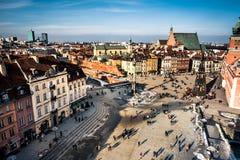 zamek kwadratowego Warsaw Zdjęcia Stock