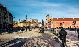 zamek kwadratowego Warsaw Zdjęcie Royalty Free