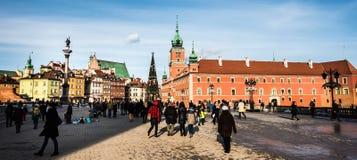 zamek kwadratowego Warsaw Obrazy Royalty Free