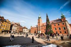zamek kwadratowego Warsaw Zdjęcie Stock