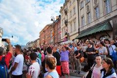 zamek kwadratowego Warsaw Zdjęcia Royalty Free