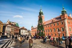 zamek kwadratowego Warsaw Fotografia Royalty Free