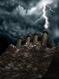 zamek lighting1 Zdjęcie Royalty Free