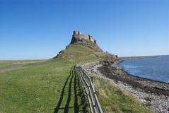 zamek lindisfarne zdjęcie royalty free