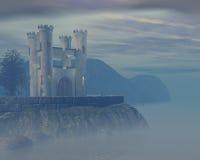 zamek mgła Obraz Royalty Free