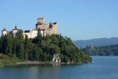 zamek nad jezioro. zdjęcia stock