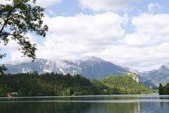 zamek nad jezioro. zdjęcia royalty free
