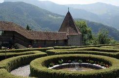 zamek ogród Obraz Royalty Free