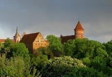 zamek olsztyn zdjęcie stock