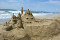 zamek piasku Fotografia Royalty Free