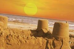 zamek piasku Obraz Stock