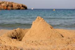 zamek piasku plaży zdjęcie stock