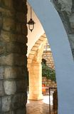 zamek podwórzowy zdjęcia royalty free
