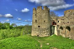 zamek średniowieczny Zdjęcia Royalty Free