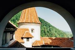 zamek Romania otrąb Antyczny dom wampir Dracula fotografia stock