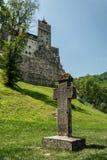 zamek Romania otrąb Antyczny tajemniczy dom wampir Dracula w Transylvania zdjęcie royalty free