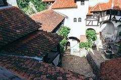 zamek Romania otrąb Tajemniczy dom wampir Dracula w Transylvania zdjęcie royalty free