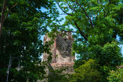 Zamek w Bolkowie Burgberg, 396 Meter über Meeresspiegel Stockbild