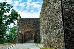 Zamek w Bolkowie Burgberg, 396 metrów nad poziom morza obrazy royalty free