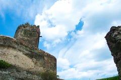 Zamek w Bolkowie Burgberg, 396 metrów nad poziom morza obraz stock