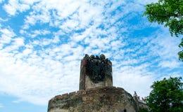 Zamek w Bolkowie Burgberg, 396 metrów nad poziom morza obraz royalty free