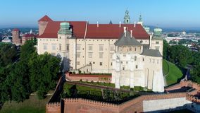 Zamek Wawel Castle και Catherdral Κρακοβία Πολωνία απόθεμα βίντεο