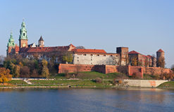 Zamek Wawel Castle in Krakow, Poland Royalty Free Stock Photos
