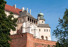 Zamek Wawel castle in Krakow, Poland. Royal Zamek Wawel castle in Cracow, Poland. Fragment with Hen's Foot Tower (Kurza Stopka Royalty Free Stock Image