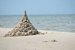 zamek z piasku Fotografia Royalty Free