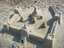 zamek z piasku Zdjęcia Stock