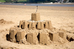 zamek z piasku plaży Zdjęcia Stock