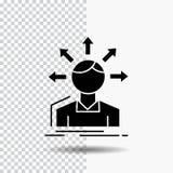zamiany różnica, różnorodność, opcje, struktura, użytkownik przemiany glifu ikona na Przejrzystym tle Czarna ikona royalty ilustracja
