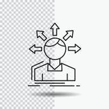 zamiany różnica, różnorodność, opcje, struktura, użytkownik przemiany linii ikona na Przejrzystym tle Czarny ikona wektor ilustracji