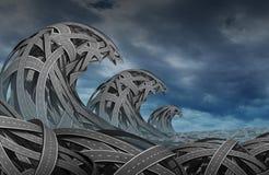 Zamieszanie burza ilustracja wektor