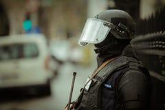 Zamieszki policja Obrazy Stock