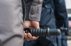 Zamieszki policja Obraz Royalty Free