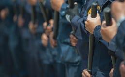 Zamieszki policja Fotografia Royalty Free