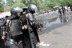 Zamieszki policja obrazy royalty free