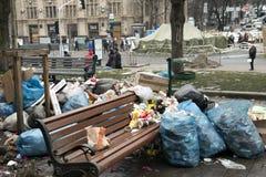 Zamieszki w Khreschatyk ulicie w Kijów Zdjęcie Stock